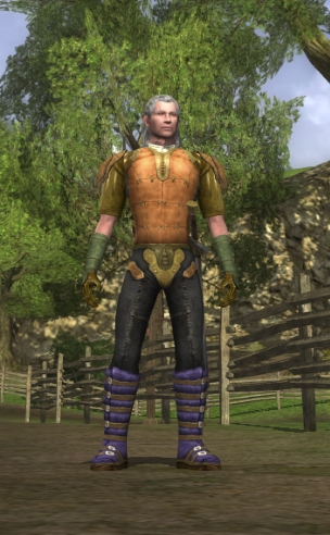 My captain. Fear my purple, high-fantasy moon boots!